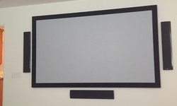 Projection Screen w/surround sound system  - Media Room Del Mar