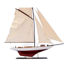 """Wooden Columbia Limited Model Sailboat Decoration, 35"""""""