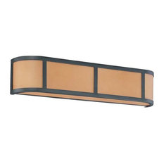 Satco Products   Nuvo Lighting Odeon 3 Light Wall Sconce With Parchment  Glass   Bathroom