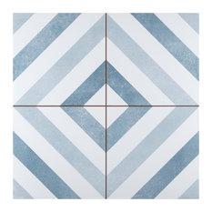 "17.63""x17.63"" Optik Ceramic Floor and Wall Tile, Set of 5"