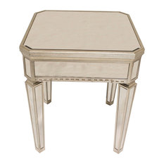 Borghese Mirrored Square End Table