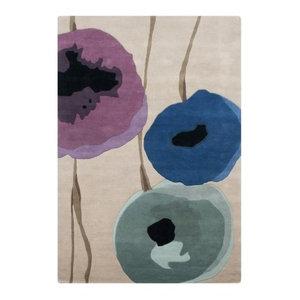 Sanderson Poppies Rug, Purple, 200x280 cm