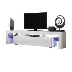 "TV Stand Milano 200 White Body Modern 90"" TV Stand LED, White"