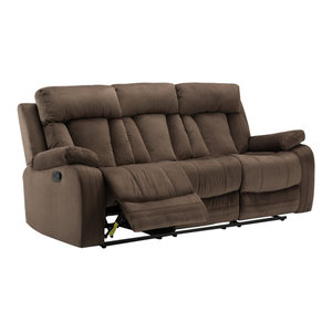 Heaven On Earth Reclining Sofa Transitional Sofas By