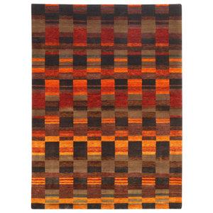 Lombard 24.1 Rug, Burnt Orange and Brown, 70x140 cm
