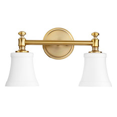 Traditional bathroom lighting Contemporary Quorum Quorum Rossington 2light Vanity Aged Brass With Satin Opal Bathroom Houzz 50 Most Popular Traditional Bathroom Vanity Lights For 2019 Houzz