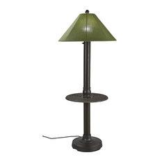"Catalina Table/Floor Lamp With 3"" Bronze Body/Spectrum Cilantro Sunbrella Shade"