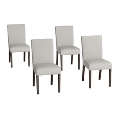 MOD - Hammada Upholstered Dining Chairs, Set of 4, Taupe - Dining Chairs