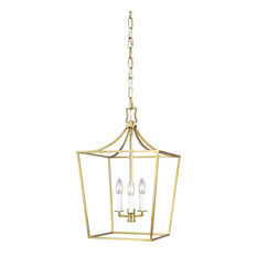 Southold 3-Light Single Tier Chandelier, Burnished Brass
