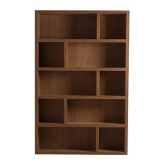 Mondrían Natural Wooden Bookcase