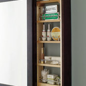 Bath Mirror with Pullout - Decora Cabinetry
