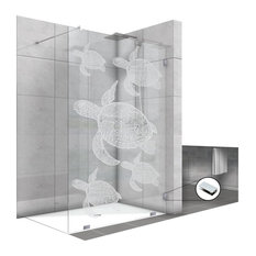 "Fixed Shower Screens With Turtle Design, Non-Private, 47 1/2""x75"""