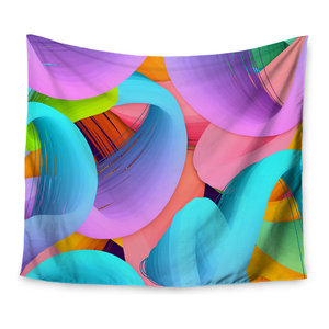 KESS InHouse Danny Ivan Pop Abstract Multicolor Wall Tapestry 68 x 80