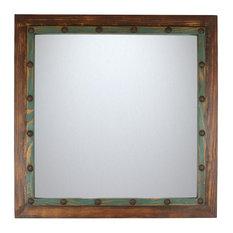 Mexican Imports - Rustic Mirror, Blue Sierra - Bathroom Mirrors