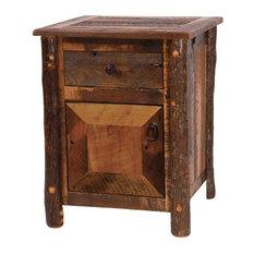 Barnwood Enclosed Nightstand Hickory Legs
