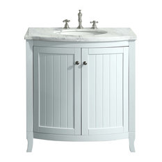 Eviva Odessa Zinx Vanity With Top and Sink, White, 30""