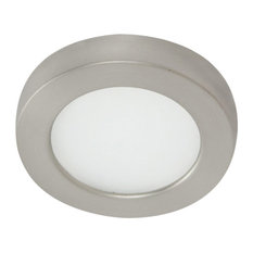 WAC Lighting Edge Lit LED Button Light 2700K Warm White, Brushed Nickel