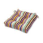 Outdoor 20 in. Sunbrella Fabric Seat Cushion, Malibu Stripe