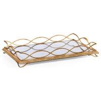 Eglomise and Gilded Iron Rectangular Tray