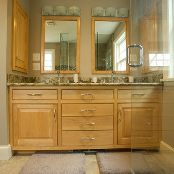 Hanover Bath with maple cabinets