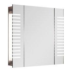 Brezza Demist Cabinet, With Horizontal LED Stripes