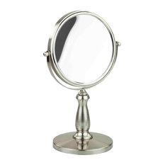 Home Basics Cosmetic Mirror, Satin Nickel