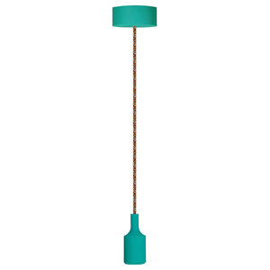 Special Pendant Light, Teal and Multicoloured