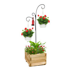 25 most popular hanging planters for 2018 houzz plastec hanging basket planter stand outdoor pots and planters workwithnaturefo