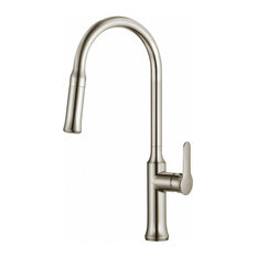 KRAUS Nola 1-Handle Pull Down Dual-Function Spray Kitchen Faucet, Stainless