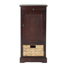 Safavieh Raven Tall Storage Unit, Dark Cherry