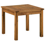 "Offex - Offex 20"" Wood Patio Simple Square Side Table - Brown - Description"