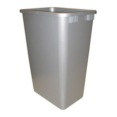 Rev-A-Shelf 50Qt Replacement Waste Bin, Silver