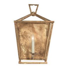 Darlana Wall Lantern, Gilded Iron