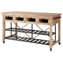 Industrial Kitchen Islands And Kitchen Carts by GwG Outlet