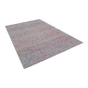 Arabian Sari Silk and Wool Area Rug, Multicolored, 120x180 cm