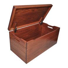 """Amish Toy Chest, Washington Cherry Stain, 36"""", Oak Wood"""