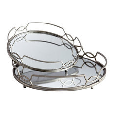 Cyan Design Lady Anne Trays, Stainless Steel
