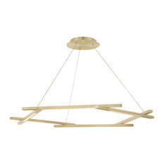 "Modern Forms Metric 28"" LED Chandelier in Brushed Brass"