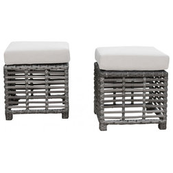 Tropical Outdoor Footstools And Ottomans by Seldens Furniture