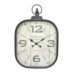 Three Hands Corp Metal Frame Wall Clock Clocks