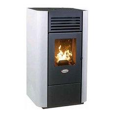 - Pilleovn Lory Langaa hvid 9 kW - Fritstående brændeovn
