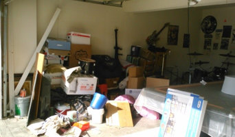 Garage organizing - before, during and after