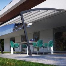 Modena model retractable pergola patio and deck cover system