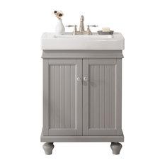 """Legion Furniture Dawson Single Sink Vanity, Gray, 24"""""""