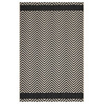 Mod Way - Optica Chevron With End Borders Indoor and Outdoor Area Rug, 8'x10' - Make a sophisticated statement with the Optica Chevron With End Borders Indoor and Outdoor Area Rug. Patterned with an elegant design, Optica is a durable and soft machine-woven polypropylene rug that offers wide-ranging support. Featuring a geometric chevron design with a low pile weave and gripping rubber bottom, this all-weather area rug is a perfect addition to the outdoor patio, porch, deck, or inside the house in the living room, bedroom, kitchen or dining room. Optica is a family-friendly fade and stain resistant rug with easy maintenance. Hose down or vacuum periodically. Create a contemporary play area for kids and pets in high-traffic areas while protecting your floor from spills and heavy furniture with this carefree decor solution.