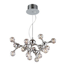 Luxe / Glam 15 Light Chandelier in Polished Chrome Finish