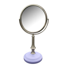 Lavender Purple Base and Jinjin Pedestal Bathroom Makeup Mirror