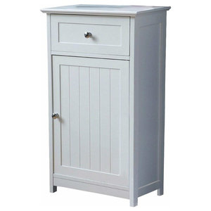 Modern Floor Standing Cabinet Unit With 1-Door and 1-Drawer