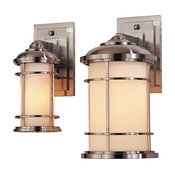 Feiss Lightshouse 1 Light Aluminum Sconce, Brushed Steel