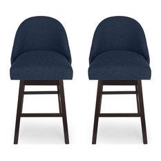 Armstrong Modern Upholstered Swivel Bar Stool